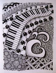 Drawn music notes doodle art Pattern Music Suche was DoodleDoodle