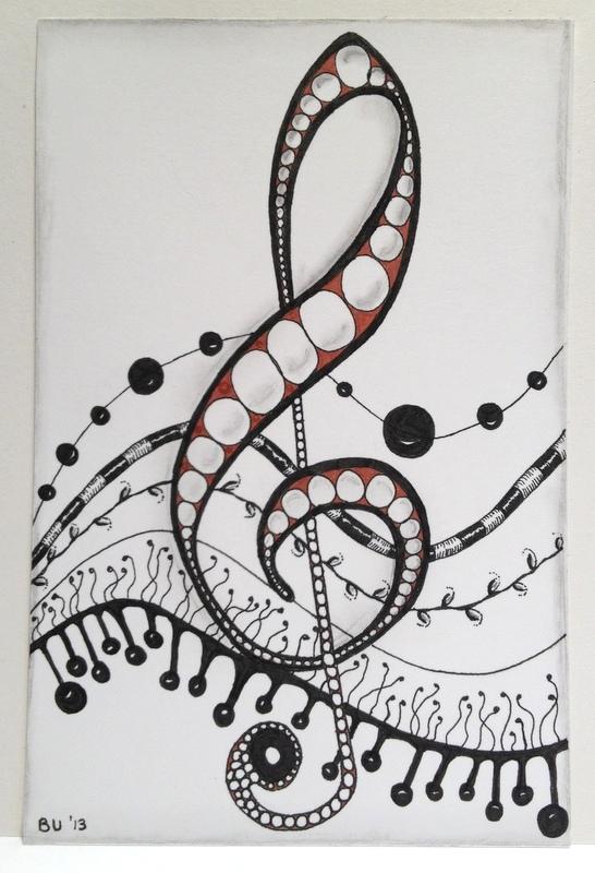 Drawn music notes doodle art Music note Zen Interactive zentangele
