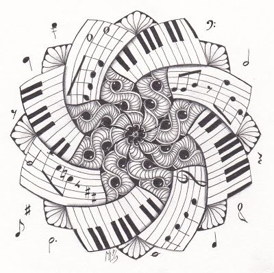 Drawn musician doodle art On Zentangle drawings  20+