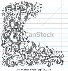 Drawn music notes doodle art Music zoeken zoeken julie notes