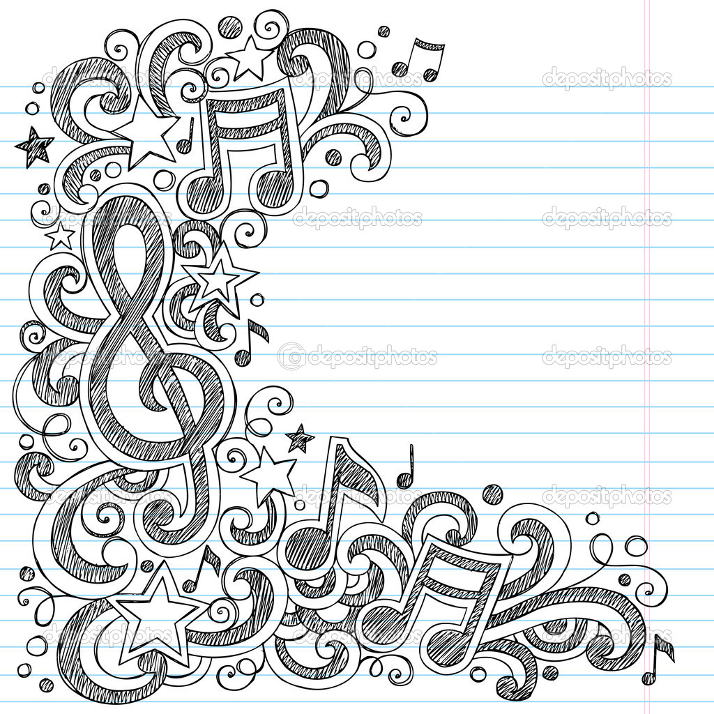 Drawn music back to school Sketchy Love  Love #14554155