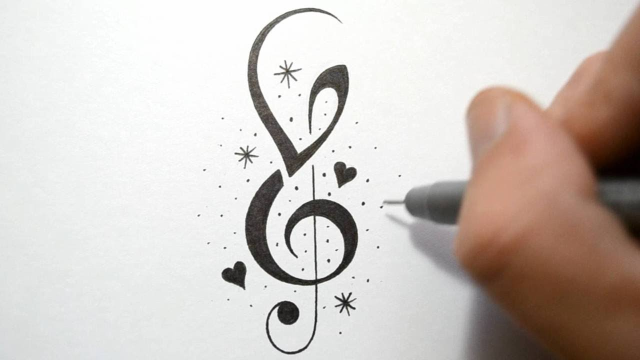 Drawn music easy Tattoo Designs Drawing  Music