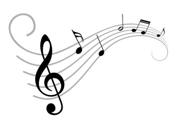 Drawn music notes simple Bilder suchen:  notes und