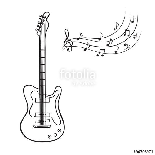 Drawn music notes free music Music  guitar music vector