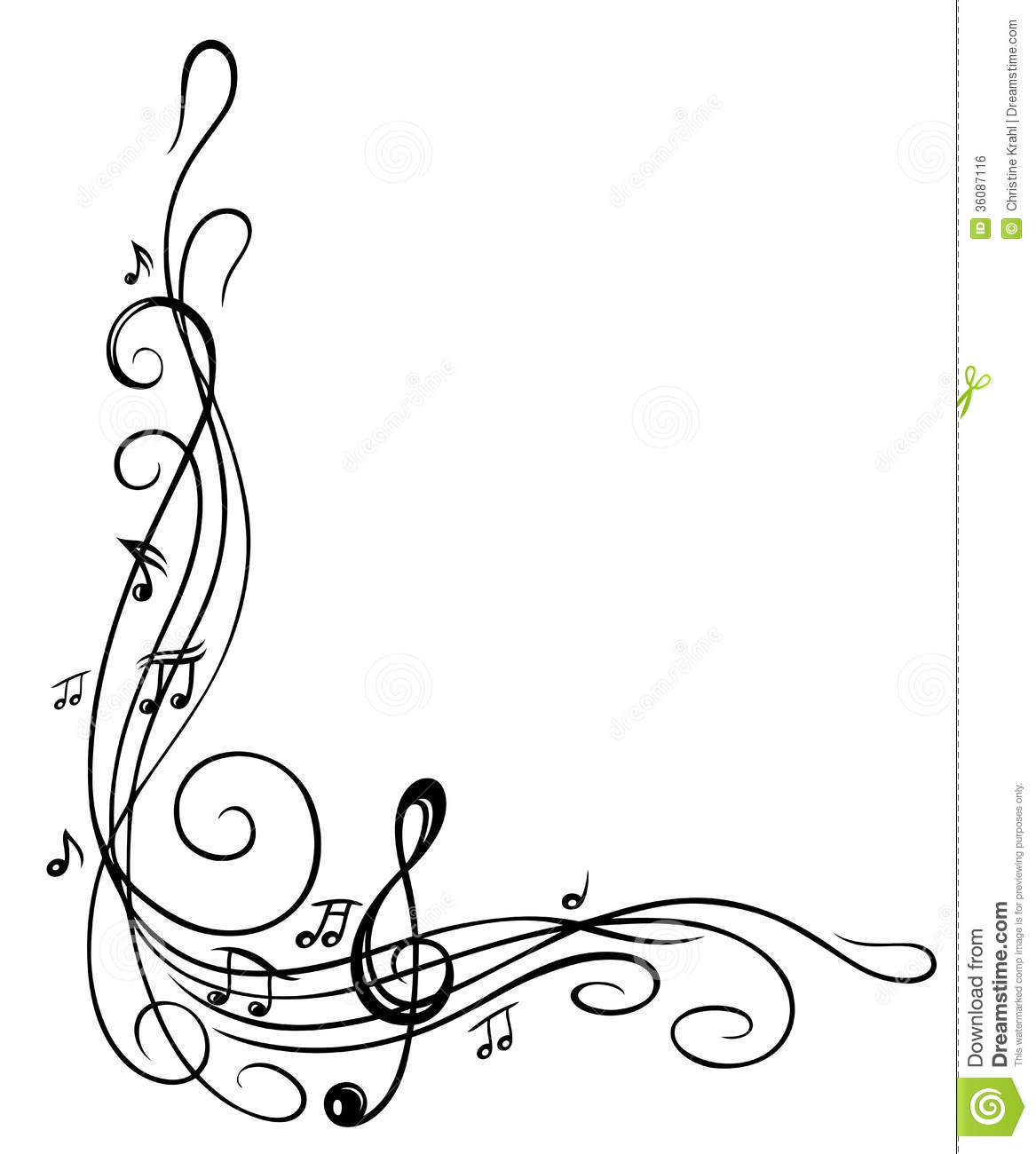 Notes Music card Pinterest Border