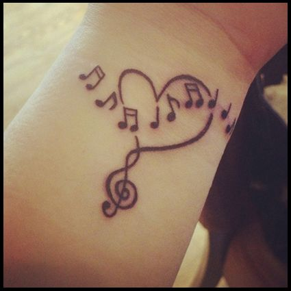 Drawn music notes girly Tattoos Love Small Of Music