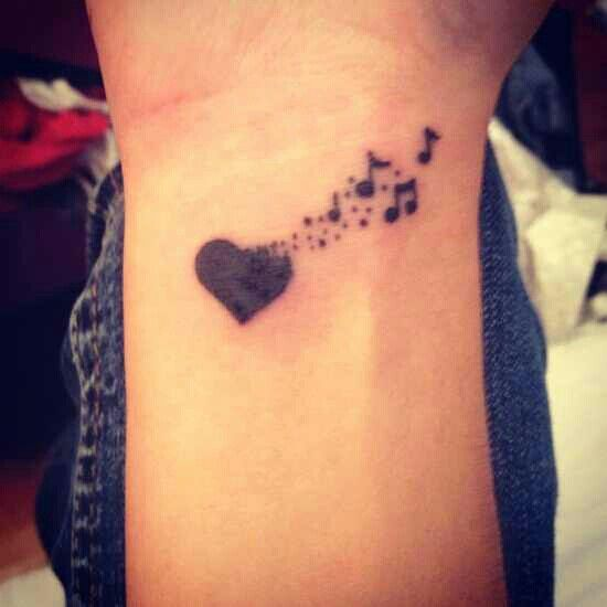 Drawn music notes girly 25+ ideas tattoos Top 15