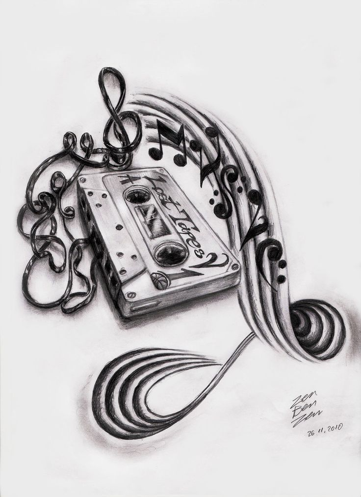 Drawn music notes girly Music Pinterest Music Tattoo about
