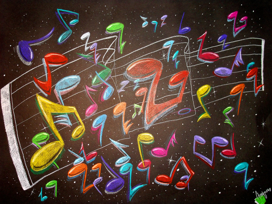 Drawn music notes graffito By Music Notes on Orbcreation