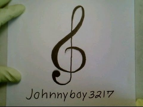 Drawn music notes graffito A YouTube To  una
