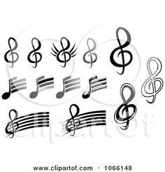 Drawn music notes graffito Alphabet music notes  stencils