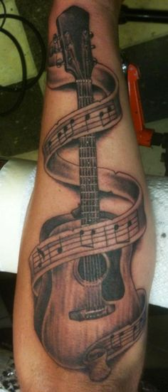 Drawn music notes guitar And at Charming Guitar More