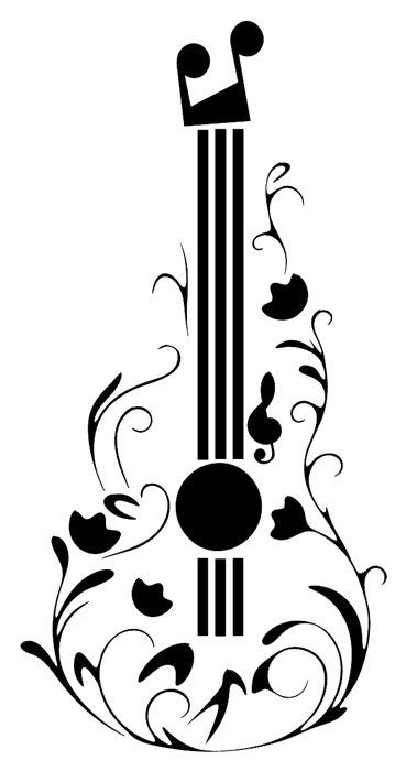 Drawn music notes guitar Patrones Siluetas Note  Cuadernos