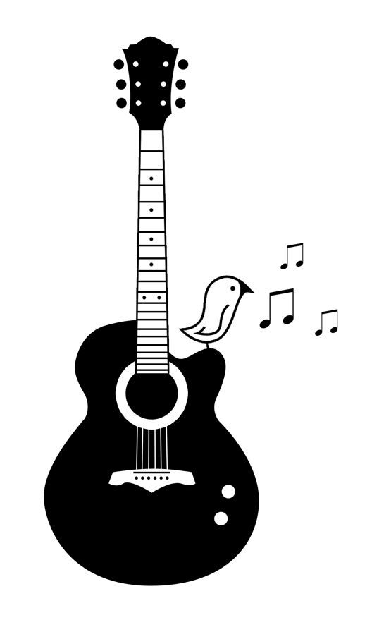 Drawn music notes guitar Tattoo best Guitar Pinterest about