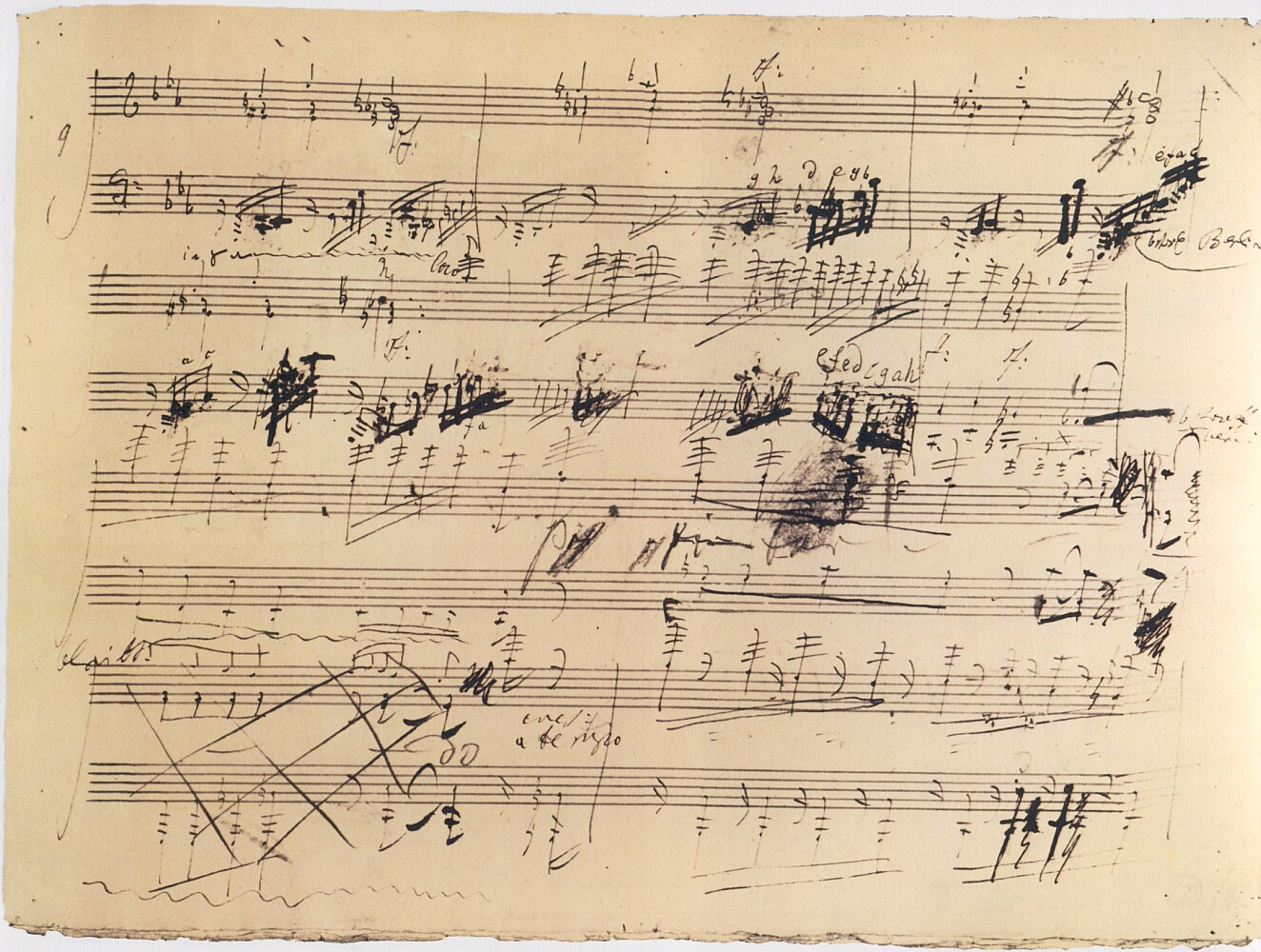 Drawn music notes handwritten Mozart handwritten Calligraphy Search sheet