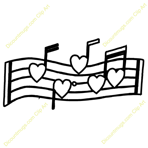 Heart-shaped clipart music notes #6