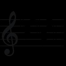 Drawn music notes key Printing and Wikipedia drawing Correctly