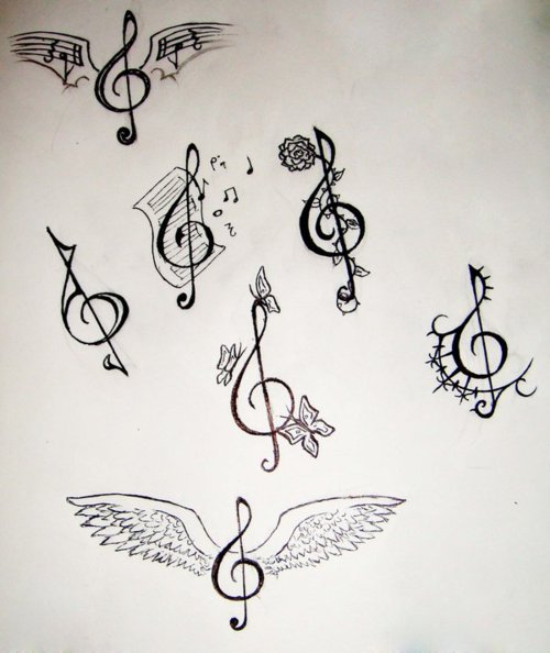 Drawn music notes key Music designs music cool Pinterest