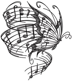 Drawn music notes line drawing This Downloads and Pinterest about