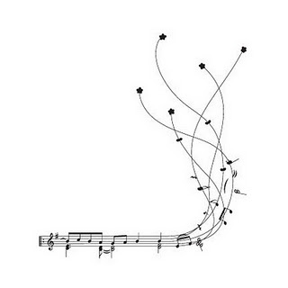 Drawn music notes line drawing Line messy crazy staff Pinterest