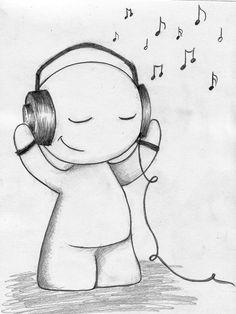 Drawn music notes line drawing Kasqlaa 2013 people Google