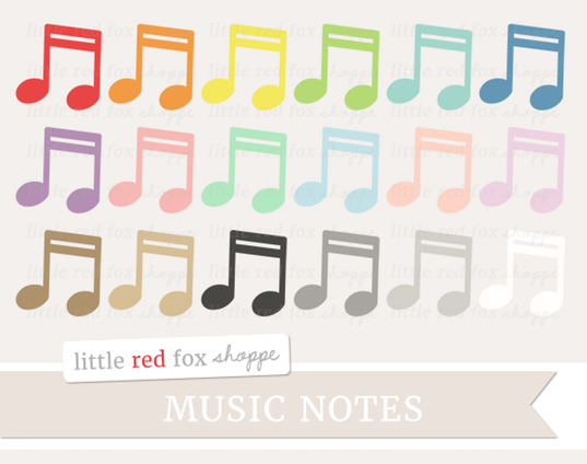 Drawn music notes little Cute puppy doodles Red Shoppe