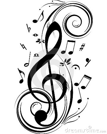 Drawn music notes little Vector conscience Music notes chanteur