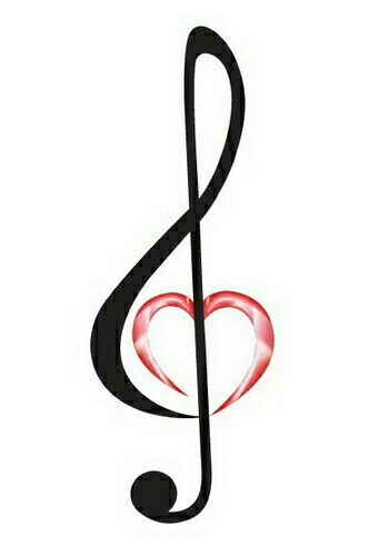 Drawn music notes love heart Can These the  love