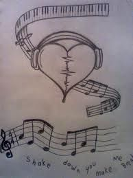 Drawn music notes love heart The it tattoo zoeken Google