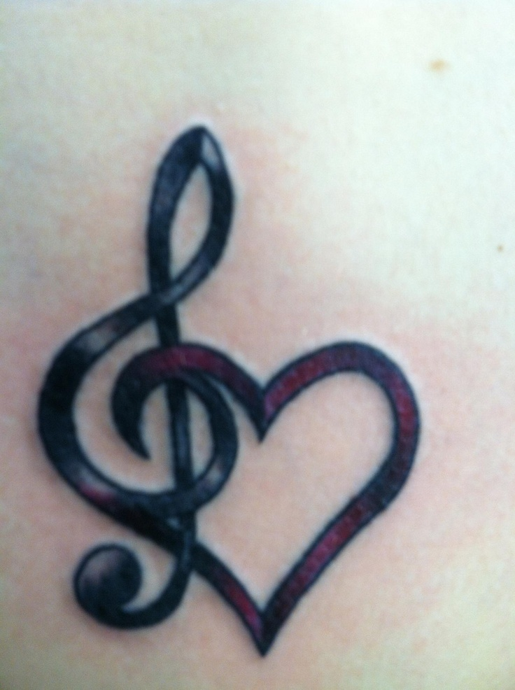 Drawn music notes love heart Lovely Designs 10 Most Tattoo