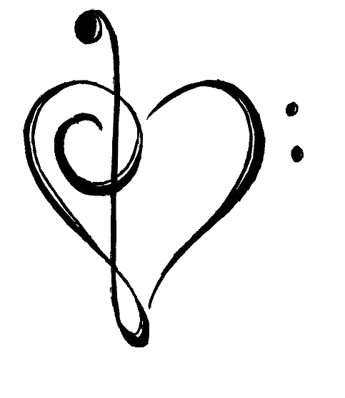 Drawn music notes love heart That's on this Clipart Free