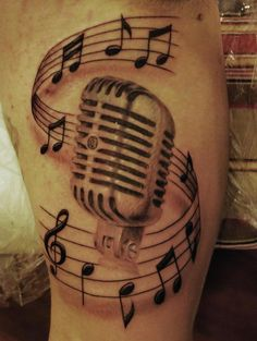 Drawn music notes microphone This Fashioned the in reslo