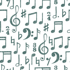 Drawn music notes misical Notes musical note