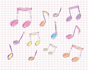 Drawn music notes misical Musical Look Files note Digital