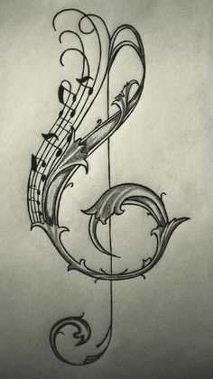 Drawn music notes misical Tribal ideas Music Pinterest drawing/sketch
