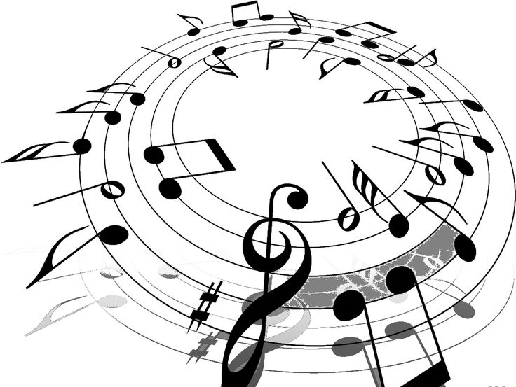 Drawn music notes misical Graphics Music letters Png Pinterest