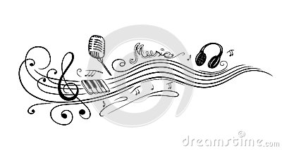 Drawn microphone music notes clipart Clipart Notes Microphone Clipart music