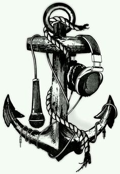 Drawn music ribbon  drawing Pinterest Drawings Music
