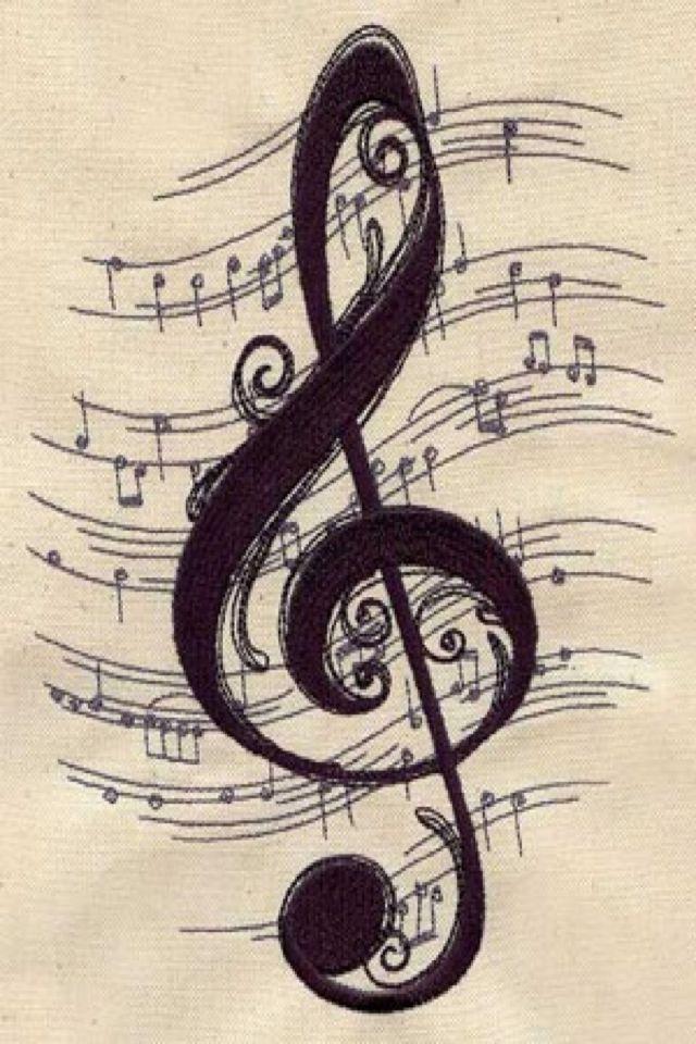 Drawn musical music wallpaper Background Pinterest tattoo ideas Pretty