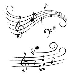 Drawn music notes music themed Pictures  Music wedding a