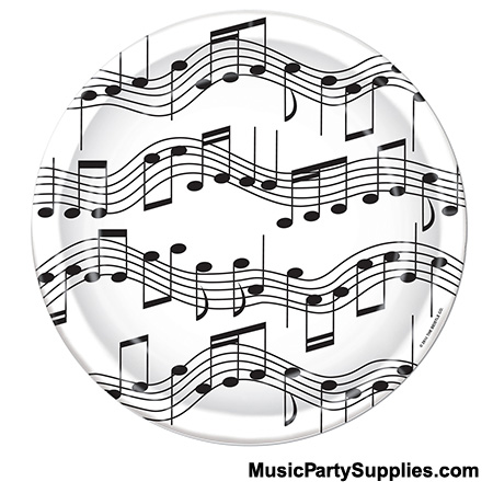 Drawn music notes music themed Music MUSIC right These Plates