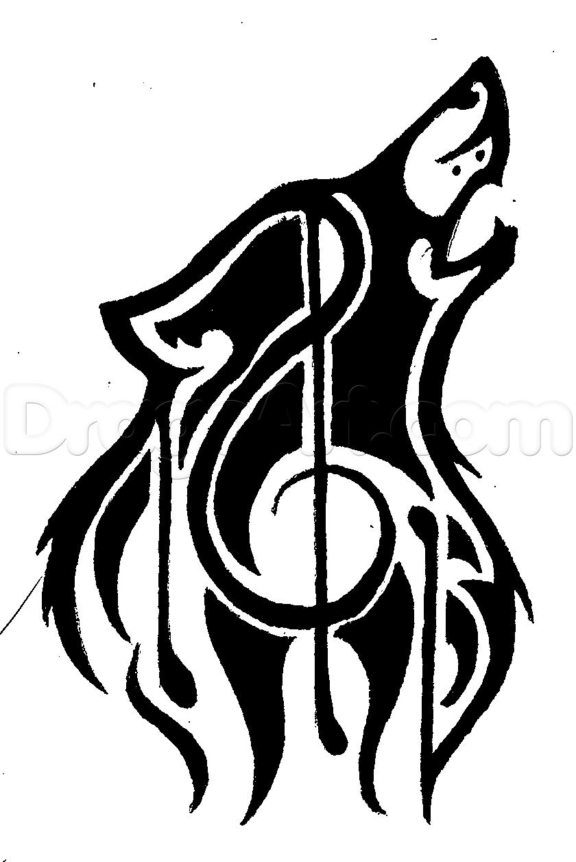 Drawn music lined paper Crafts draw to music music