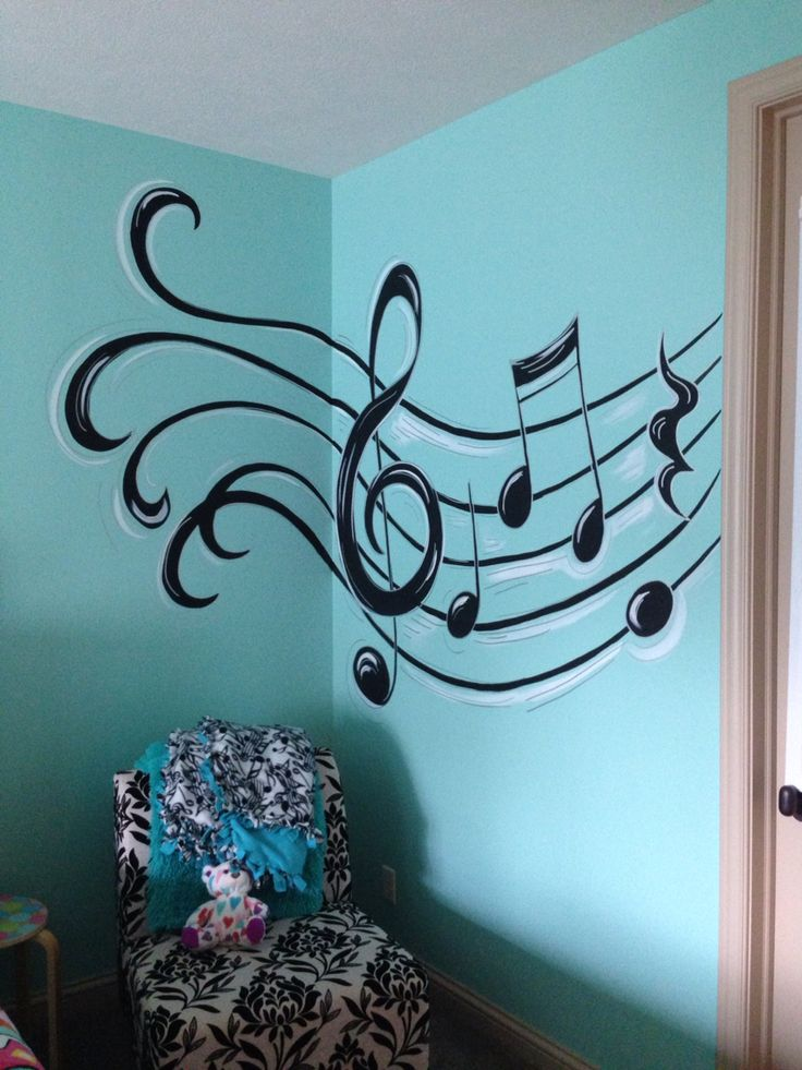 Drawn music notes music themed Themed Music on Best nursery