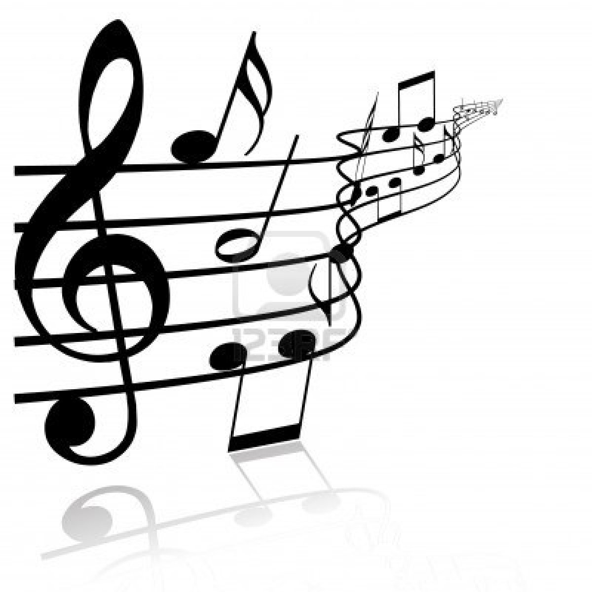 Drawn music notes music themed On – white Best on