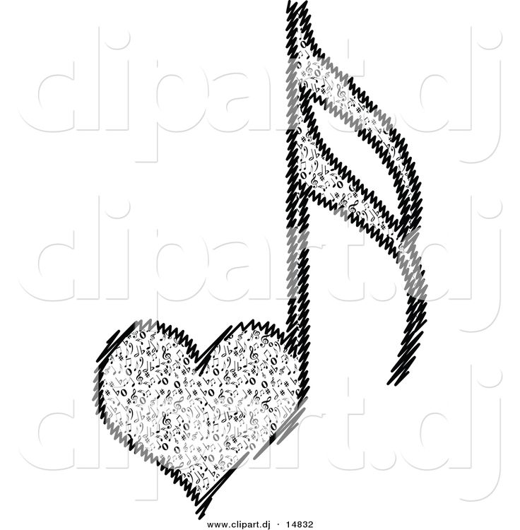 Music Notes clipart row Heart about images Clipart Music
