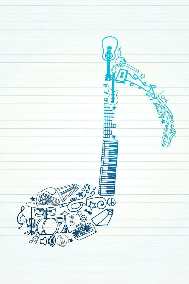 Drawn musical music wallpaper Best Música ideas 25+ wallpaper