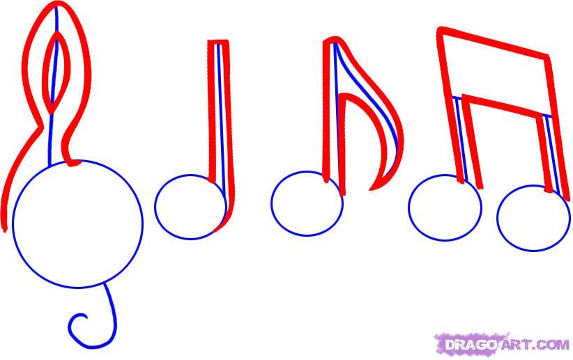 Drawn music score Draw music Step Notes 2