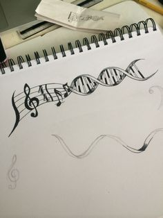 Drawn music notes not Protection Mazza DNA and stay