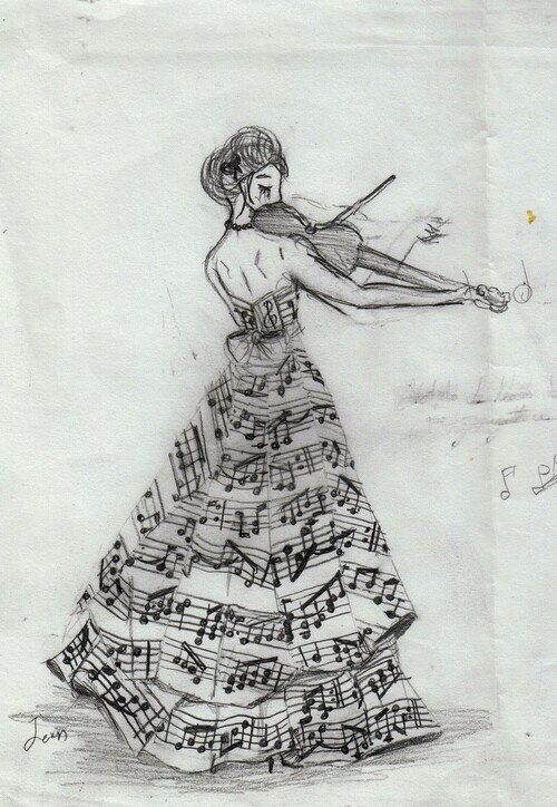 Drawn musician beautiful music Around Pinterest Make the to