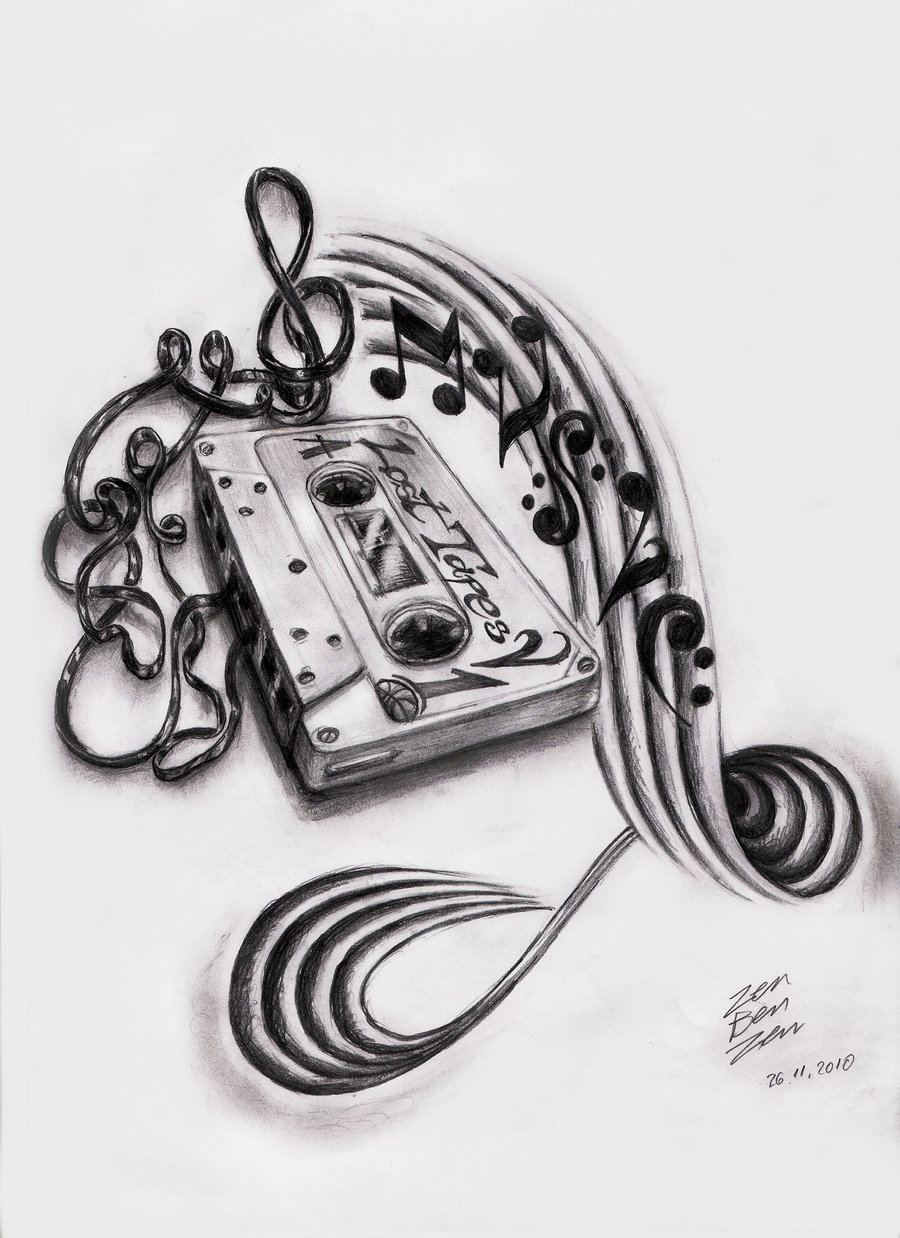 Drawn music notes old Tattoo Great Tattoos Designs Designs